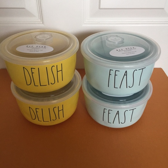 ❤️New Rae Dunn Delish&Feast food bowl container ❤️